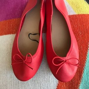 💕CUTE 💕 H&M Orange Ballet Flats Size 7 EUR